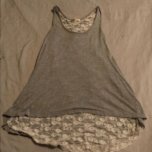 Lace-lined tank